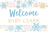 Baby Mini Champagne Label - Sparkling Snowflakes
