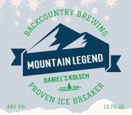 Beer Can Label - Mountain Legend