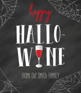Holiday Wine Label - Hallo-Wine