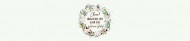 Baby Water Bottle Label - Cotton Bloom Wreath