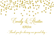Wedding Mini Wine Label - Gold Confetti