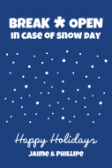 Holiday Large Wine Label - Snow Day Emergency