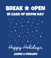 Holiday Wine Label - Snow Day Emergency