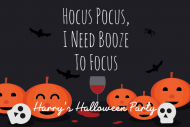 Holiday Mini Liquor Label - Hocus Pocus