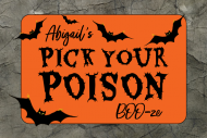 Holiday Mini Liquor Label - Flying Bats