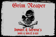 Holiday Mini Liquor Label - Grim Reaper