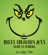 Holiday Wine Label - Grinch