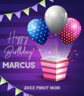 Birthday Wine Label - Happy Birthday Party