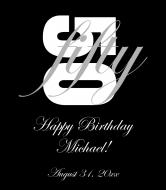 Birthday Wine Label - Bold Birthday