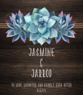 Wedding Wine Label - Rustic Succulent