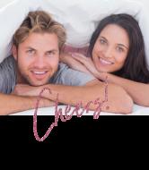 Wedding Wine Label - Pink Glitter Cheers