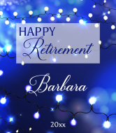 Wine Label - Retirement Lights