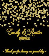 Wedding Wine Label - Gold Confetti