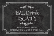 Holiday Mini Liquor Label - Eat, Drink, & Be Scary