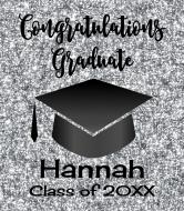 Graduations Wine Label - Graduation Silver Glitter