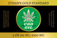 Dropper Bottle Label - CBD Oil