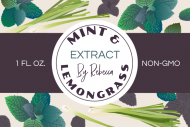 Dropper Bottle Label - Mint and Lemongrass