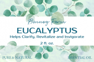 Dropper Bottle Label - Eucalyptus Oil