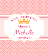 Birthday Wine Label - Pink Queen Birthday