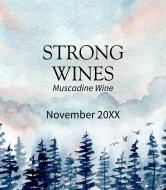 Wine Label - Watercolor Forest