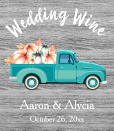 Wedding Wine Label - Fall Retro Truck