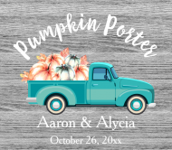 Wedding Beer Label - Fall Retro Truck
