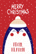 Holiday Gift Tag - Christmas Penguin