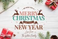 Holiday Growler Label - Traditional Christmas Scene