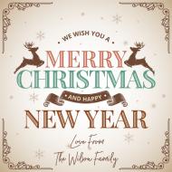 Holiday Growler Label - Traditional Christmas