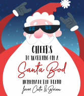 Holiday Wine Label - Santa Bod