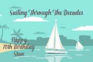 Birthday Large Wine Label - Sailing Through The Decades