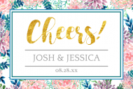 Wedding Mini Wine Label - Hand Painted Floral