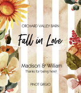Wedding Wine Label - Fall Feeling
