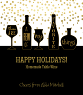 Holiday Wine Label - Favorite Things