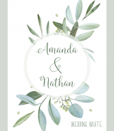 Wedding Wine Label - Eucalyptus Frame