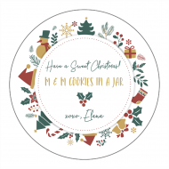 Holiday Canning Label - Cookies in a Jar