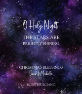 Holiday Wine Label - O Holy Night