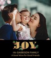 Holiday Wine Label - Christmas Family Joy
