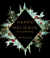 Holiday Wine Label - Holly Diamond