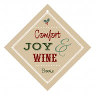 Holiday Wine Hang Tag - Comfort Joy Wine