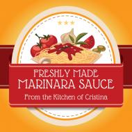 Food Label - Pasta Sauce