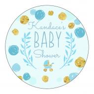 Baby Label - Playful Scribbles Blue