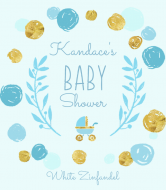 Baby Wine Label - Playful Scribbles Blue