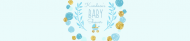 Baby Water Bottle Label - Playful Scribbles Blue