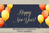 Holiday Large Wine Label - Retro New Years Eve