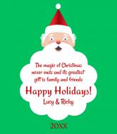 Holiday Wine Label - Santa's Beard