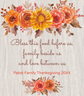 Holiday Champagne Label - Thanksgiving Floral