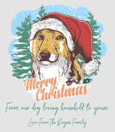 Holiday Wine Label - Christmas Dog