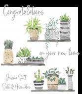 Celebration Champagne Label - Plants on Shelves