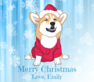 Holiday Beer Label - Christmas Corgi